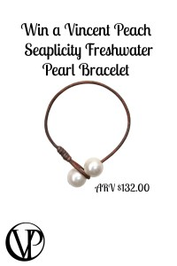 Seaplicity Freshwater Pearl Bracelet by Designer Vincent Peach for this Summer -Giveaway