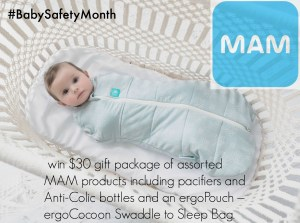 Celebrate Baby Safety Month with MAM Baby Products and ergoPouch Giveaway!