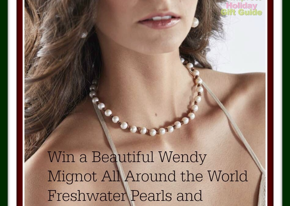 The Bohemian Look of Leather Meets the Serene Elegance of Pearls Mix In the Beautiful Wendy Mignot- All Around the World Freshwater Necklace