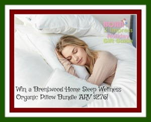 HOHOHO It's a Brentwood Home Sleep Wellness Organic Pillow Bundle Giveaway!