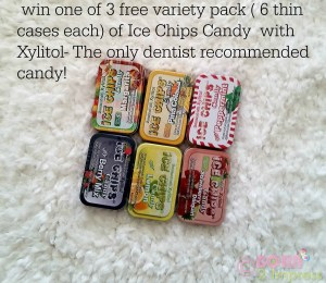 Sweet Tooth? Meet the Ice Chips Candy with Xylitol the Only Dentist Recommended Candy- Giveaway