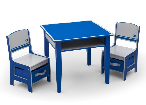 Kid's Furniture-Jack and Jill Storage Table & Chair Set  in Blue