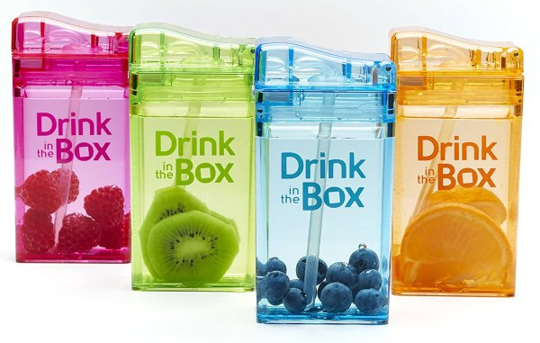 Drink in the box for travel with kids