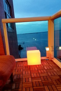 "12""LOFTEK LED Cube Rechargeable and Cordless Decorative Light with 16 RGB Colors and Remote Control, - Orange Glow"