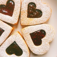 Fig and Raspberry Linzer Cookies