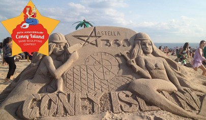 Saturday (Noon): Coney Island Sand Sculpting Contest