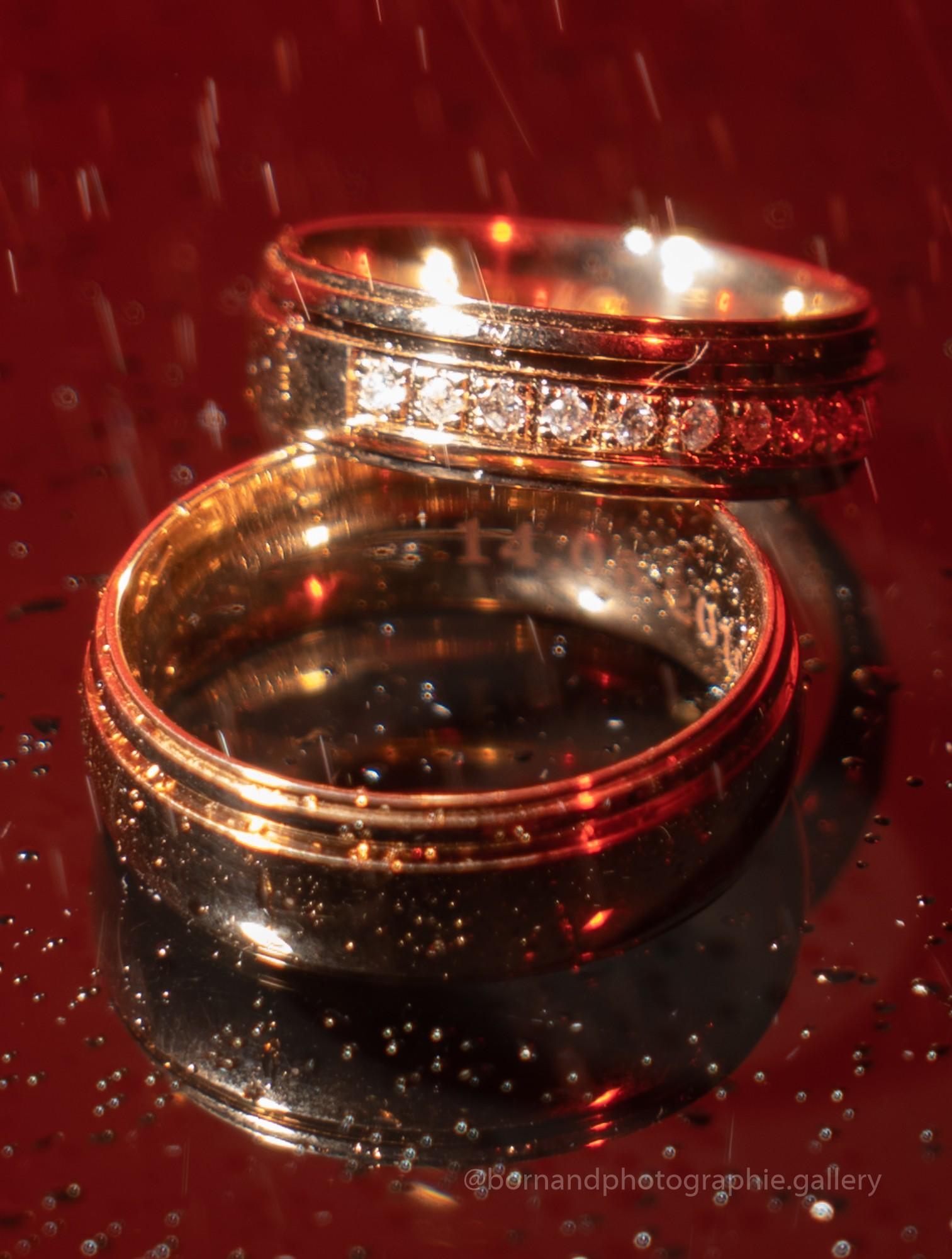 Photographie de détail du mariage