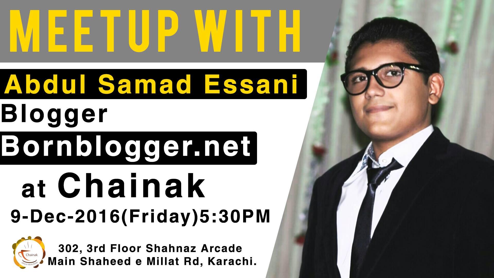 Meet Abdul Samad Essani Seminar.