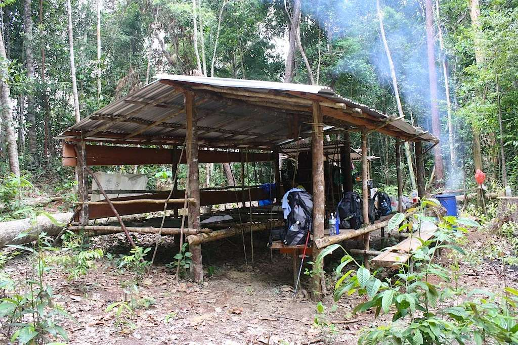 Jungle Shelter on Red Ape Trail