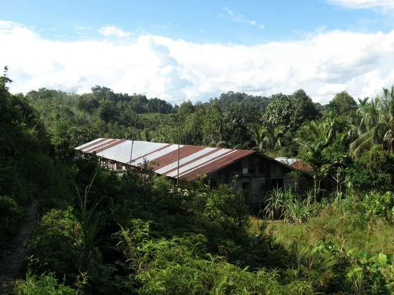 Menyang Tais Iban Longhouse, Sarawak, Malaysia.
