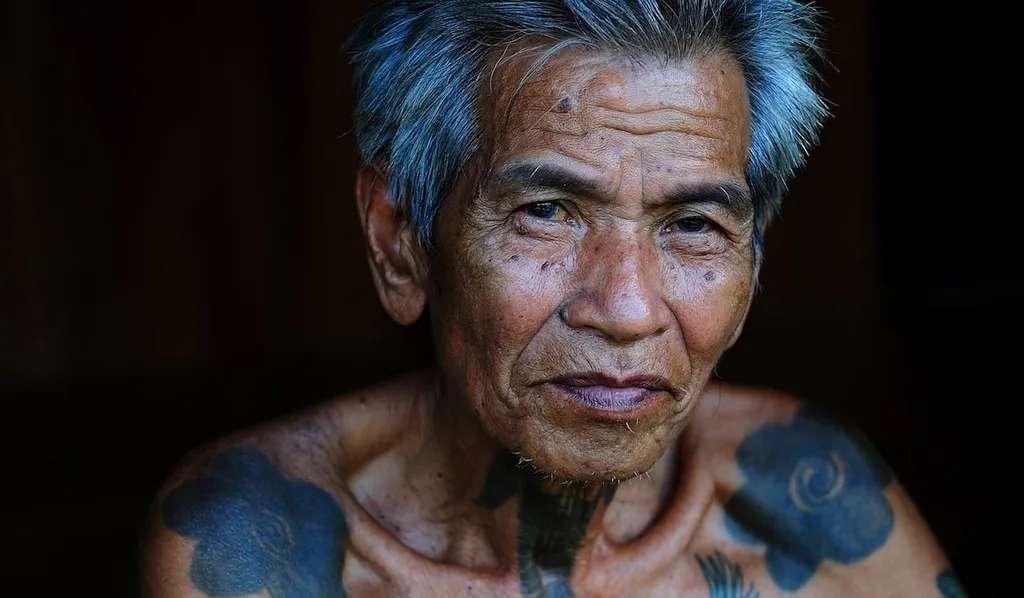 An Iban elder at Nanga Sumpa, Ulu Ai, Sarawak, Malaysia.