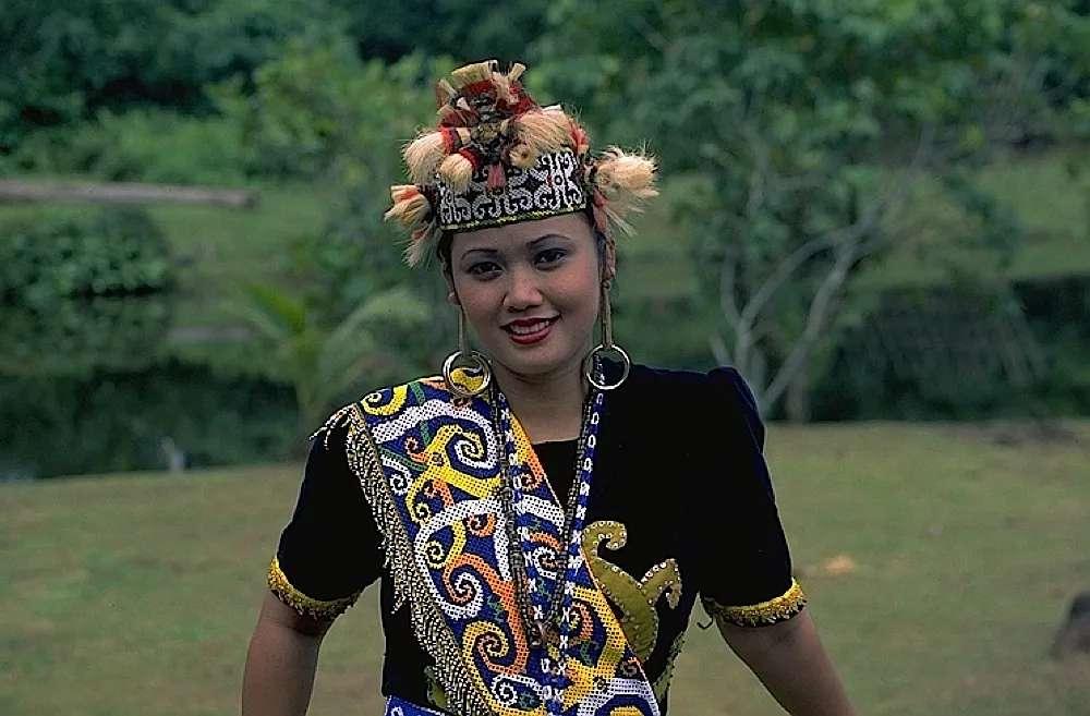 Orang Ulu ladies at Sarawak Cultural Village, Sarawak, Malaysia.