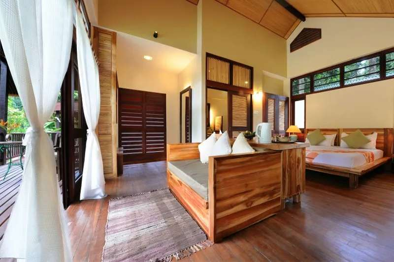 Standard deluxe room at the Borneo Rainforest Resort, Danum Valley, Sabah, Malaysia.