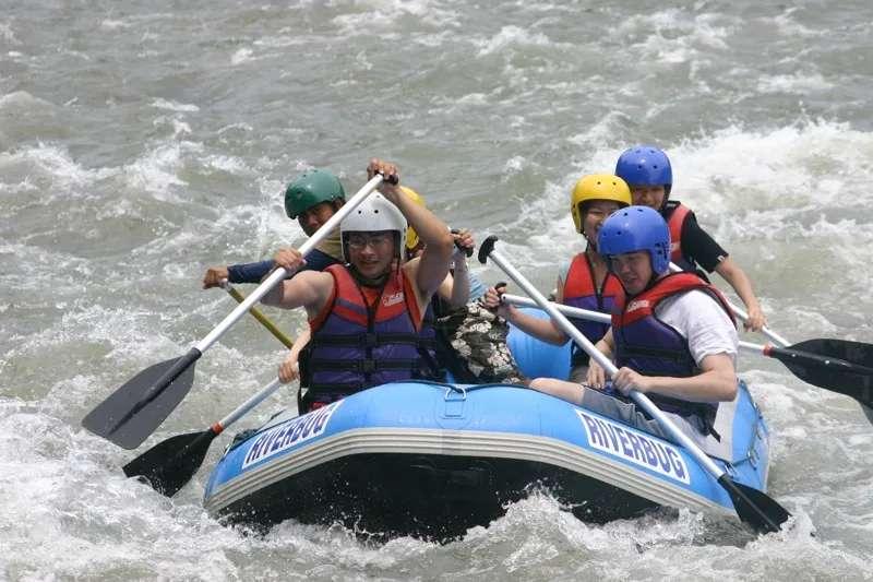 Rafting on the Kiulu River in Sabah, Malaysia