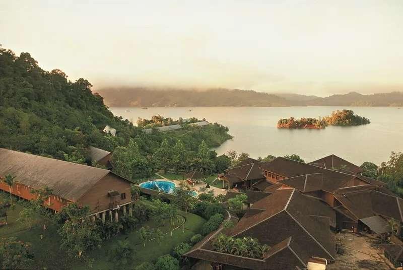 Hilton Batang Ai Longhouse Resort, Sarawak, Malaysia.