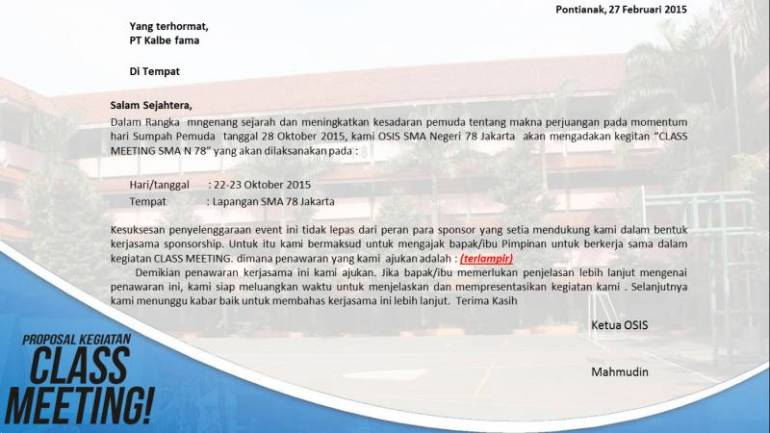 contoh surat kegiatan