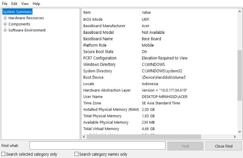 Spesifikasi laptop