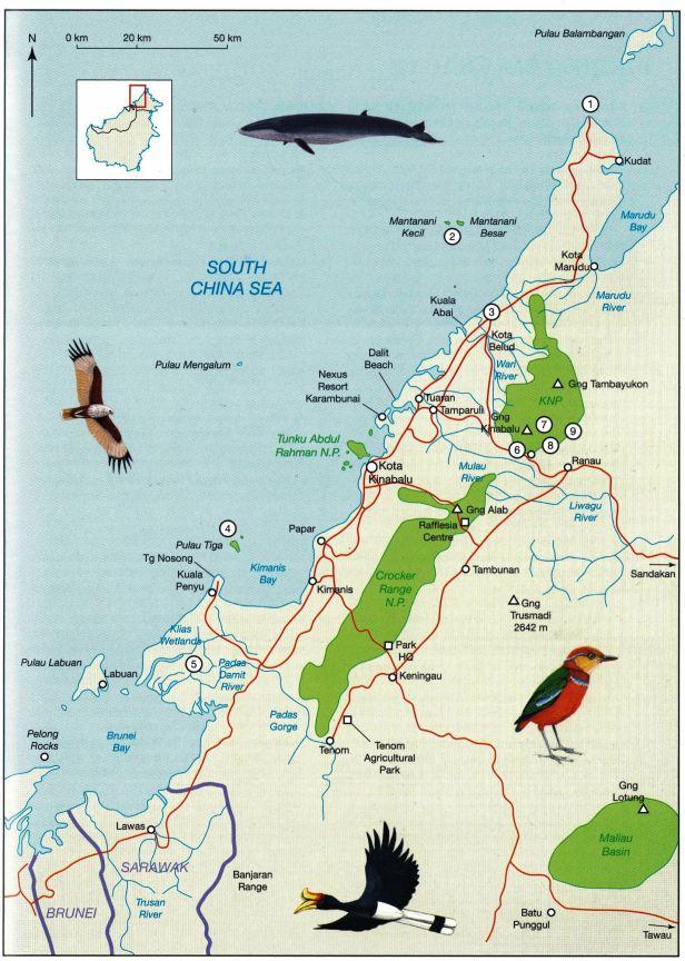 Map NW Borneo