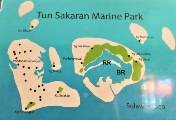 Map Tun Sakaran Marine Park signboard.jpg
