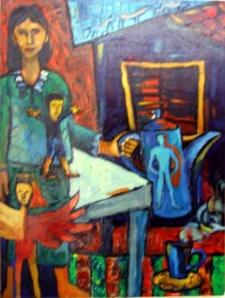 LUKISAN HAJRIANSYAH : STHUS TERKURUNG HAWA PANAS
