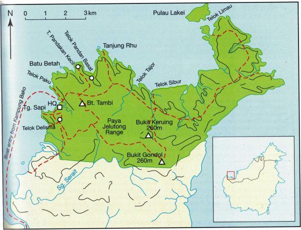 Bako Sarawak Map