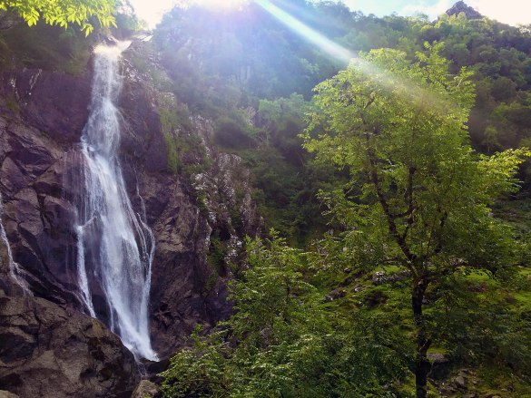 Aber Falls in Snowdonia, Wales