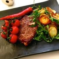 Steak med lynstegte kartofler