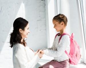 fra børnehave til skole, første skoledag.