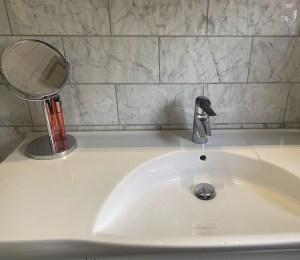 kalkbelægning og ren håndvask