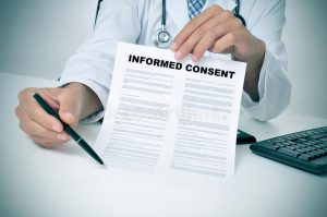 Consent form image