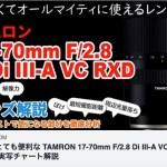 TAMRON 17-70mm F/2.8 Di III-A VC RXD (B070)実写チャート解説 YouTube