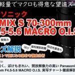 Panasonic LUMIX S 70-300mm F4.5-5.6 MACRO O.I.S. をYouTube動画で徹底解説