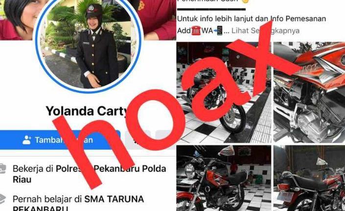 NEWS: AKun hoax penipu yang mencatut foto anggota Polwan Polres Magelang (Foto: Istimewa)