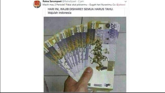NEWS: Beredar di sosial media foto uang pecahan  Rp 200 ribu (Foto: Istimewa)NEWS: Beredar di sosial media foto uang pecahan  Rp 200 ribu (Foto: Istimewa)