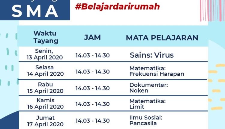 Jadwal TVRI untuk pelajar SMA