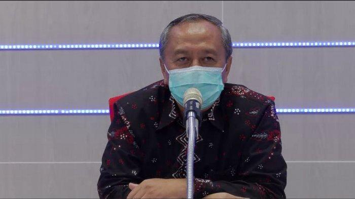 Kepala Dinas Kesehata Kota Magelang, Sri Harso  saat rils perkembangan virus corona di Kota Magelang (Foto: Istimewa)