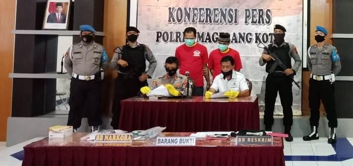 Polres Magelang Kota ungkap kasus narkotika jenis tembakau gorilla di Kota Magelang