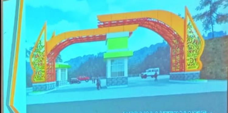 Desain sentuhan gerbang Ketep Pass
