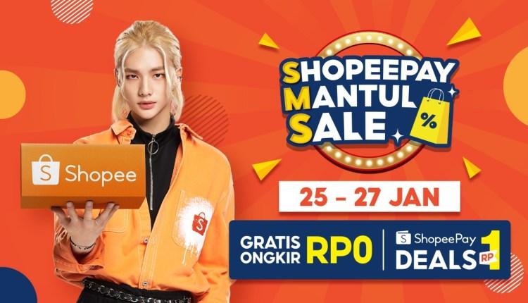 Shopee Mantul Sales SMS kampanye belanja banyak promo
