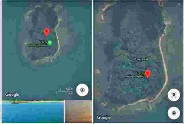 simbol SOS di pulau laki kepulauan seribu