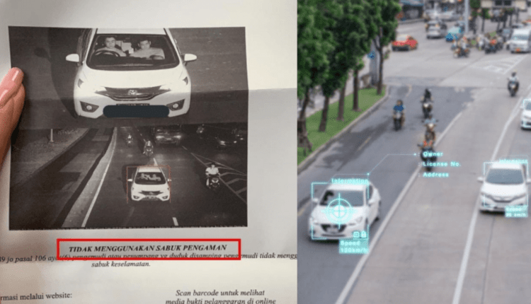 E-TILANG: Kamera CCTV menangkap pengemudi mobil yang melanggar peraturan lalu lintas. (gambar: internet)