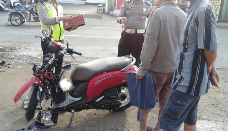 Honda Scoopy hancur setelah terlibat kecelakaan lalu lintas. (foto: ilustrasi/ist)