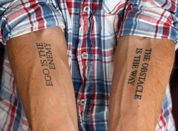 Райан Холидей - татуировки