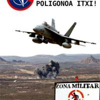 Bardeetako poligonoa itxi! OTAN EZ! | Cierre del polígono de las Bardenas OTAN NO!
