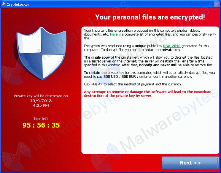 Malware: Cryptolocker