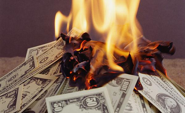 Billetes ardiendo