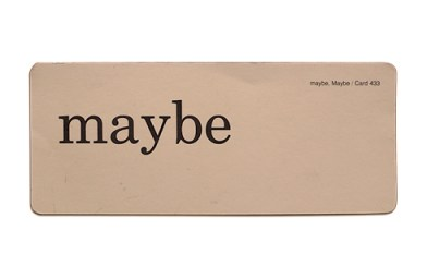 maybe (1)