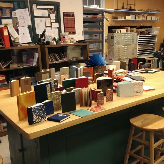 all the books my 9 person class made over the semester -- so great!
