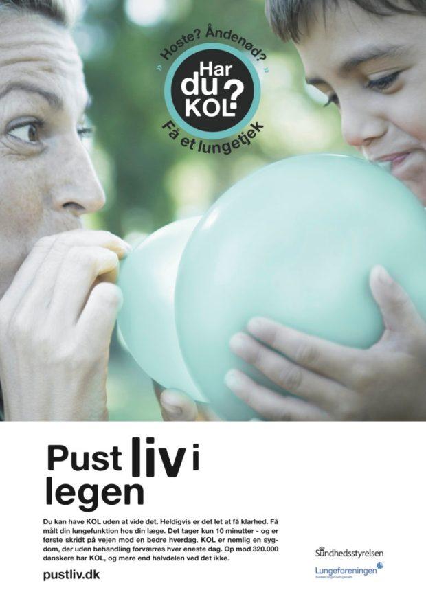 """Featured image til nyhedsbrevet: """"DSAM tager afstand fra ny kampagne vedrørende KOL"""" KOL-kampagne"""