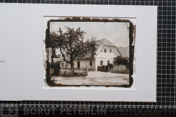 An inkjet reproduction on hanemuele photorag paper of a toned salt print from a wet plate collodion negative. This is a business gift in edition of 300 for Riko company. Author of the image Borut Peterlin, Inkjet and presentation Bojan Radovič / www.luminus.si